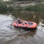 Река Узола, испытания плавсредства.