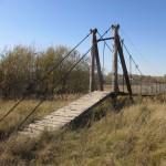 Подвесной мост в Бриляково