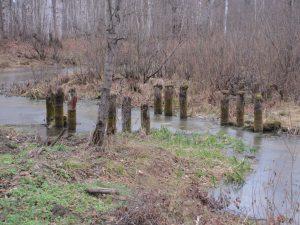 Останки моста у оз. Разгоньево